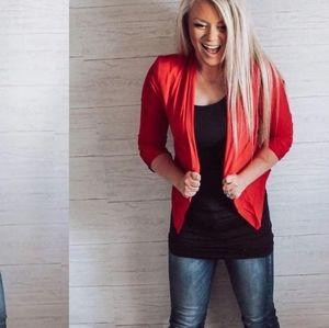Lightweight red blazer